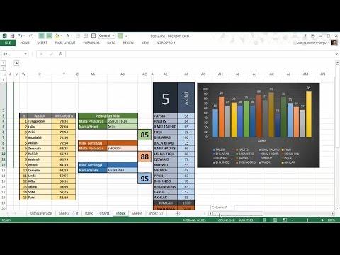Belajar Excel - INDEX + MATCH