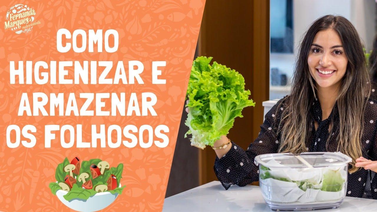 Como higienizar e armazenar sua salada por até 7 dias!