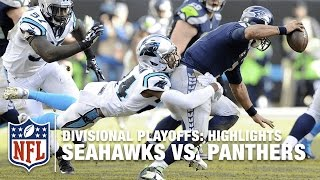 Seahawks vs. Panthers | Divisional Playoff Highlights | NFL