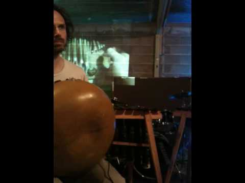 Mbira projected live on wall