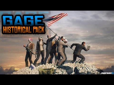 PAYDAY 2 : GAGE HISTORICAL PACK - DESBLOQUEAR TODAS LAS MASCARAS - HOXTON BREAKOUT + HACKER DETECTED