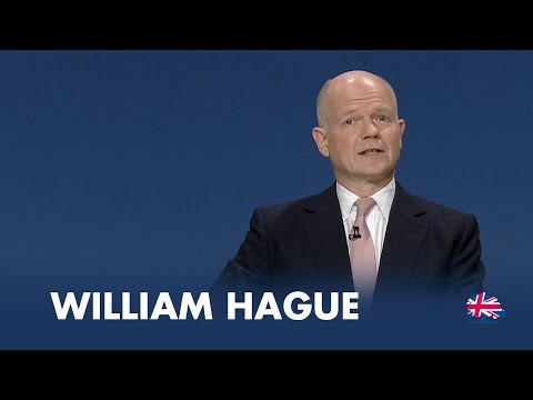 William Hague: Speech to Conservative Party Conference 2014
