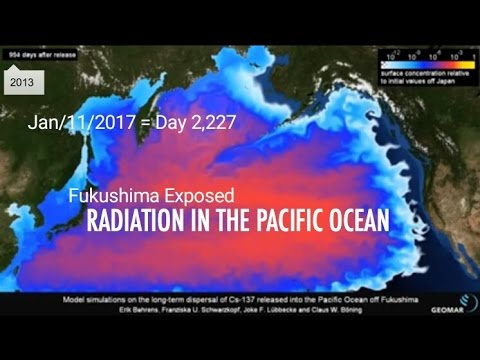 Ocean Contamination Time Lapse:  Fukushima Exposed