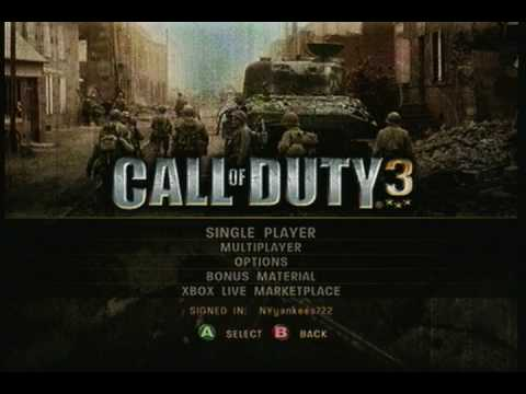 Call of Duty 3 Menu Music Theme (High Quality)