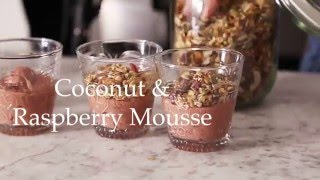 Coconut and Raspberry Mousse by Deliciously Ella