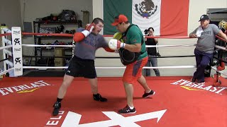 Canelo Alvarez killing the body shield & mitts as he prepares for Miguel Cotto