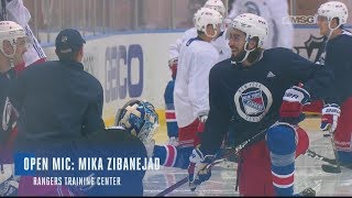 Mika Zibanejad Yucking It Up at Rangers Practice