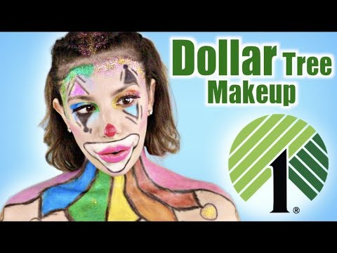 Full Face Using ONLY $1 Store Halloween Makeup! - YouTube