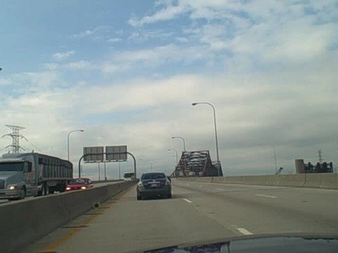 Driving the Chicago Skyway from Indiana to Chicago