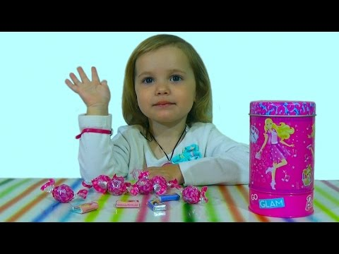 Барби музыкальная шкатулка конфеты barbie candy music box unboxing