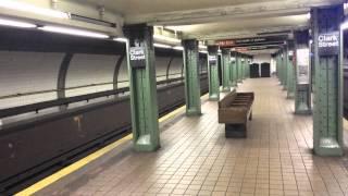 IRT Eastern Parkway Line: R142 & R62 (2) (3) Trains @ Clark Street