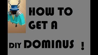 HOW TO GET A DOMINUS DIY!! | Roblox Hats DIY