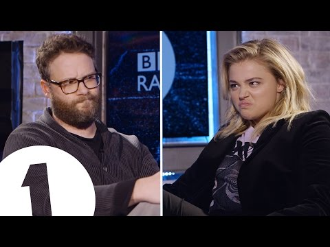 Seth Rogen & Chloë Grace Moretz Insult Each Other  CONTAINS STRONG LANGUAGE!