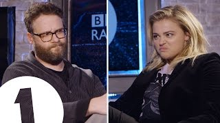 Seth Rogen & Chloë Grace Moretz Insult Each Other | CONTAINS STRONG LANGUAGE! thumbnail
