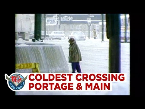Quicker you cross, the less chance you will freeze to death. Why Winnipeg closed Portage & Main 1979
