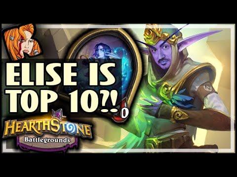 ELISE IS ACTUALLY A TOP 10 HERO?! - Hearthstone Battlegrounds