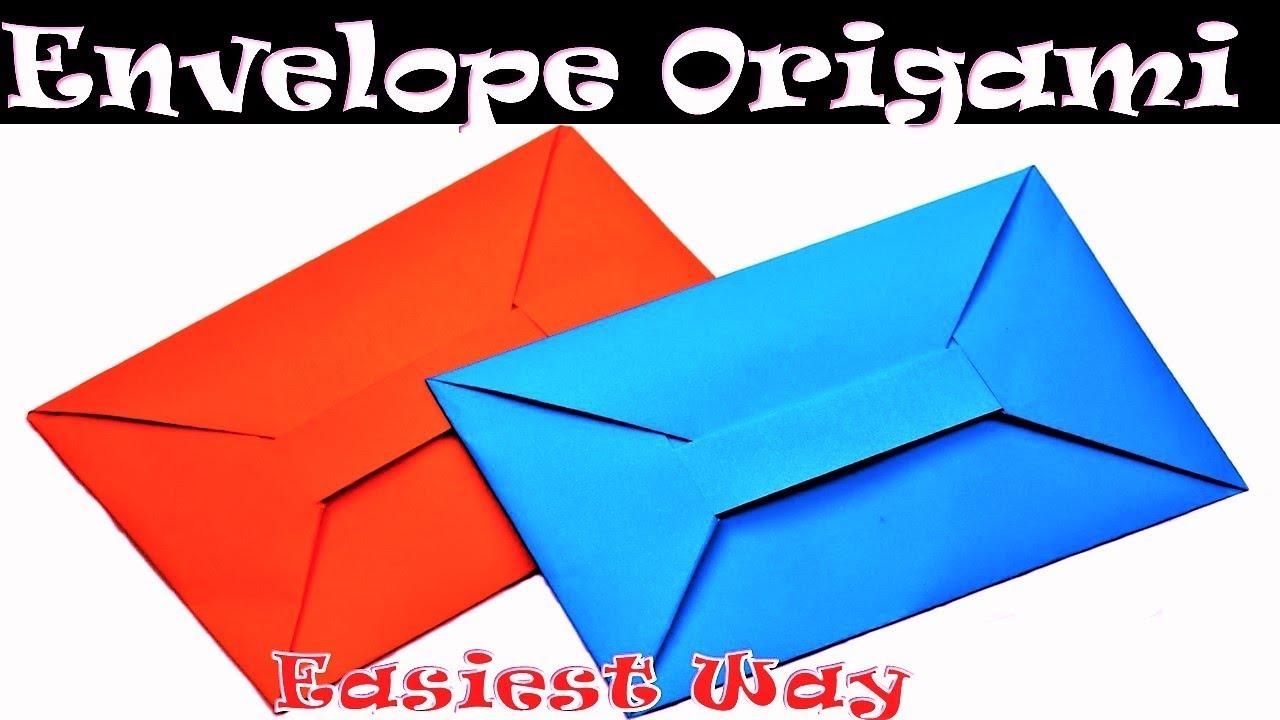 simple origami envelope tutorial easy origami envelope