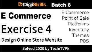 Digiskills E Commerce Exercise 4 batch 8 Create Online Store on Shopify Wordpress Digital Marketing
