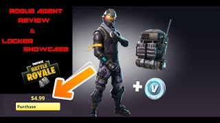 NEW FORTNITE ROGUE AGENT STARTER PACK REVIEW & LOCKER SHOWCASE!