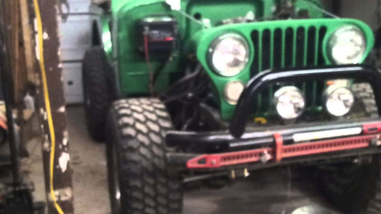Healthy AMC 360 new engine startup and running in my jeep CJ 5