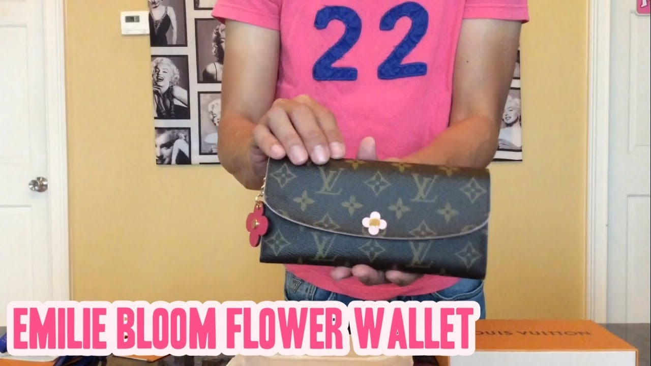 fc2880f4a62ca New Release! Louis Vuitton Emilie Bloom Flower Wallet! - YouTube