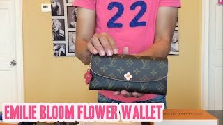 New Release! Louis Vuitton Emilie Bloom Flower Wallet!