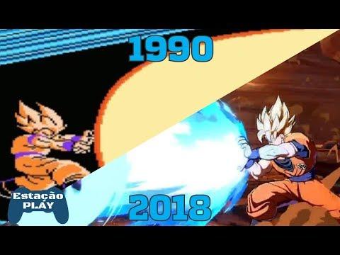 EVOLUÇÃO GAMES DRAGON BALL: Kamehameha Goku 1990/2018