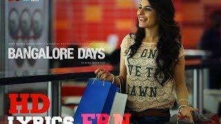 Bangalore Days - Thumbi Penne Lyrics Video - HD