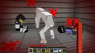 How to play SCP-096 in Minecraft! Real life family SCP! Battle NOOB VS PRO Animation
