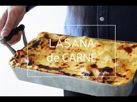 De lasana receta carne simple