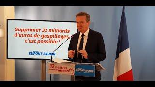 Conférence de presse : 32 milliards € d'économies pour financer la relance du pouvoir d'achat !