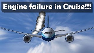 What if an Aircraft loses an engine in cruise?!
