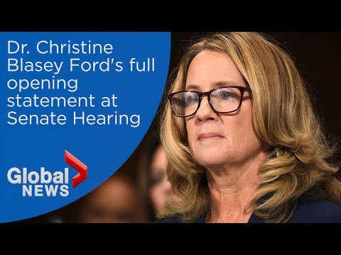 Christine Blasey Ford's FULL statement to U.S. Senate on alleged sexual assault by Brett Kavanaugh