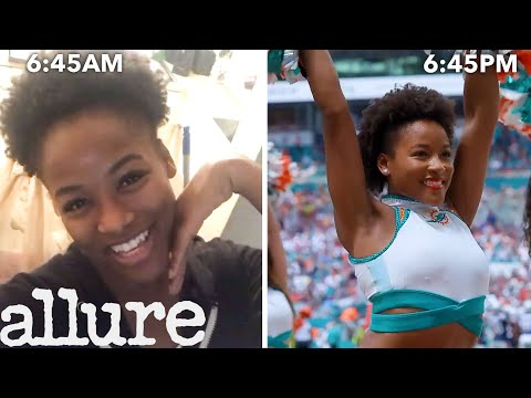 An NFL Cheerleader's Entire Routine, from Waking Up to Game Day | Allure