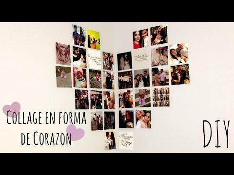 Collage En Forma De Corazon Diy Youtube
