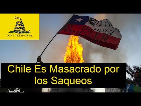 ¡Escándalo! Chile es Destrozada Por los Saqueos de la Izquierda