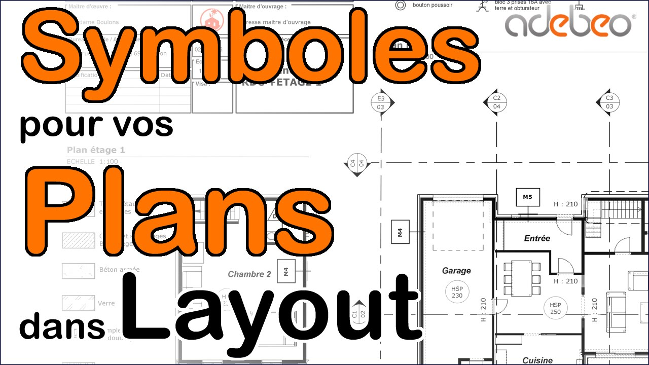 Installation Symboles Architecturaux Pour Layout Youtube