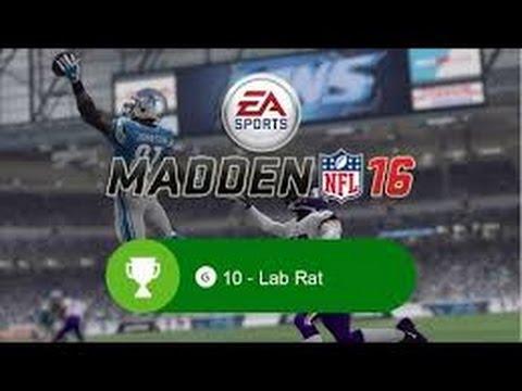 XBOX ONE ACHIEVEMENT GUIDE - Madden NFL 16 - LAB RAT