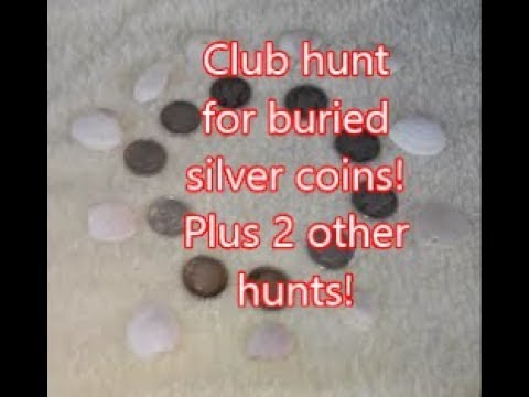 Club hunt for 350 buried Silver Dimes! + 2 Other Hunts! Diggin' w/ Rob!