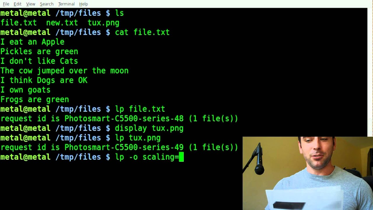 Printing From The Command Line