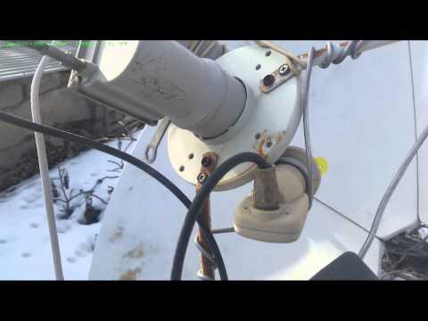 Как установить на большую спутниковую тарелку дополнительно головку на 85 градус
