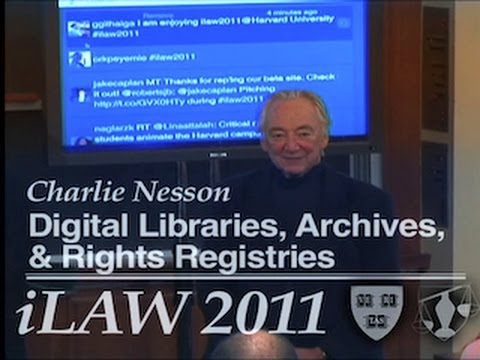 iLaw 2011: Digital Libraries, Archives, and Rights Registries
