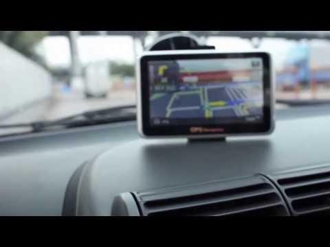 สาธิต GPS นำทางรถยนต์