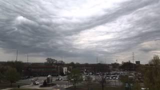 Time lapse of Undulatus Asperatus clouds in Augusta, Georgia