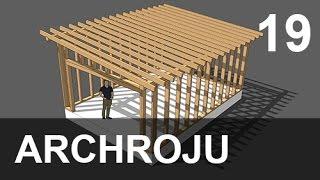 SketchUp - Modelowanie garażu w konstrukcji szkieletowej - 19