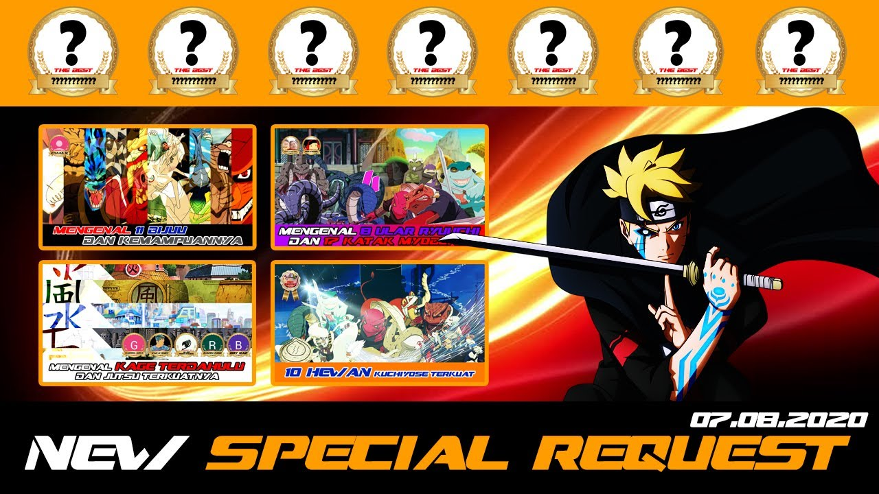 BORUTO UPDATE CHANNEL SPECIAL REQUEST 7 AGUSTUS 2020