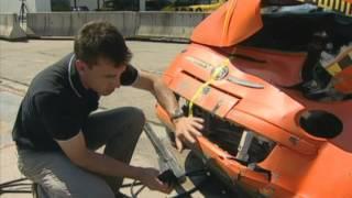 Краш-тест автомобилей Fiat 500 и Audi Q7