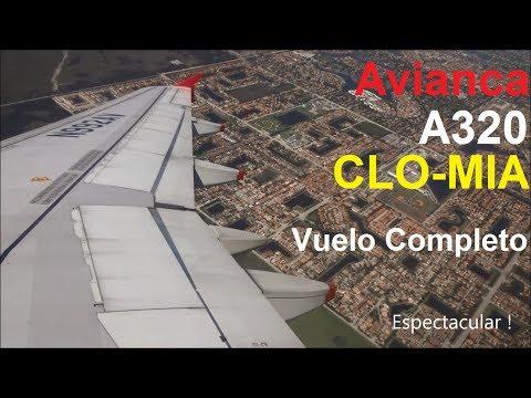 Avianca A320 Cali - Miami   Vuelo Completo