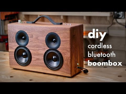 DIY Battery Powered Bluetooth Speaker // How To Construct – Woodworking