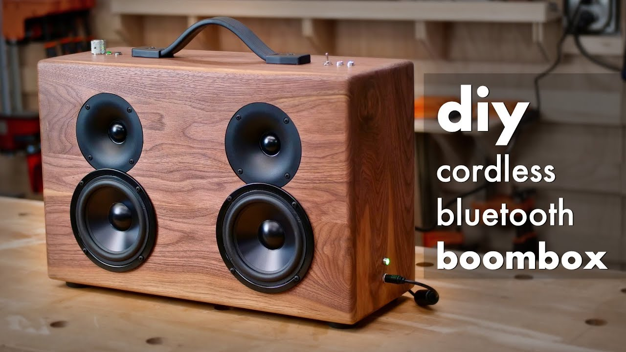 Diy Battery Powered Bluetooth Speaker How To Build Woodworking